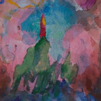 Petite tache #1072, 2014, 12 x 7.5 cm.