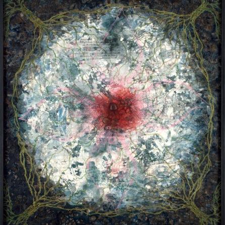 A l'origine, 2011, 125 x 110 cm.