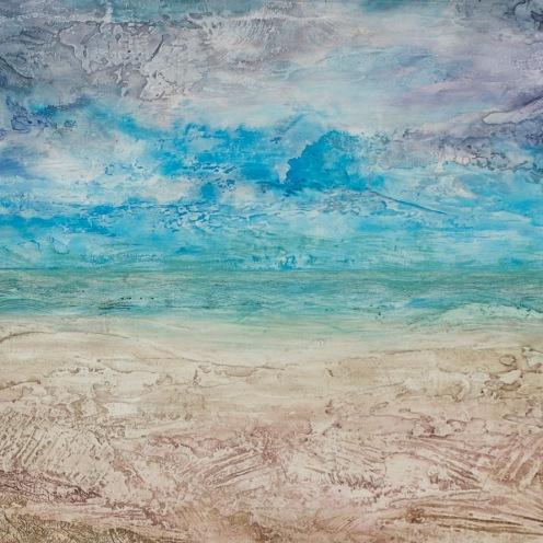 Paysage de mer-terre 1, 2011, 60 x 121 cm.