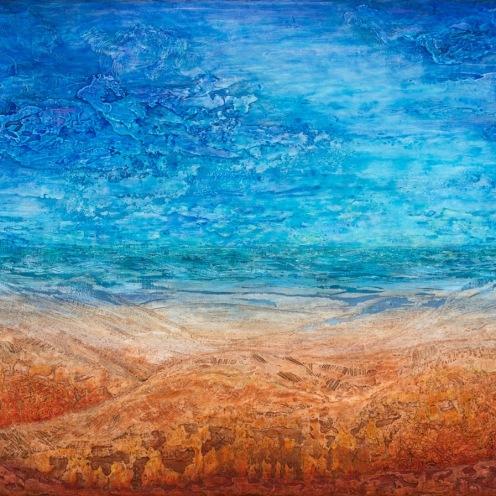 Paysage de mer-terre 2, 2011, 102 x 203 cm.