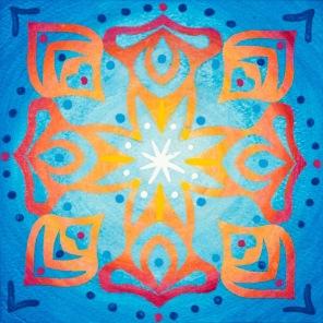 Mandala de Noël #6, 2014, 10.7 x 10.7 cm.