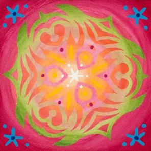 Mandala de Noël #5, 2014, 10.7 x 10.7 cm.
