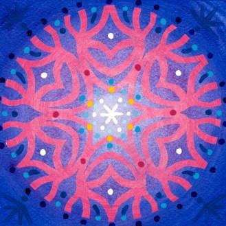 Mandala de Noël #4, 2014, 10.7 x 10.7 cm.