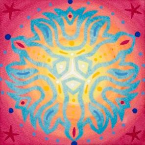 Mandala de Noël #3, 2014, 10.7 x 10.7 cm.