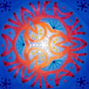 Mandala de Noël #2, 2014, 10.7 x 10.7 cm.
