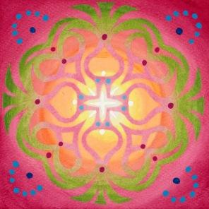 Mandala de Noël #7, 2014, 10.7 x 10.7 cm.