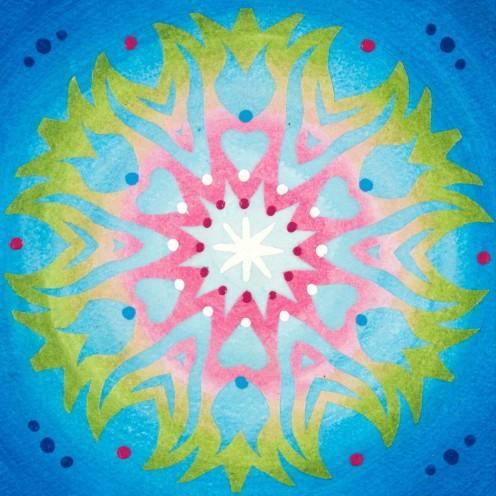 Mandala de Noël #1, 2014, 10.7 x 10.7 cm.